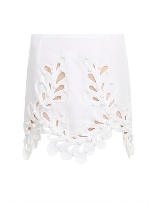 Zimmermann Brightside Rouleaux Mini Skirt