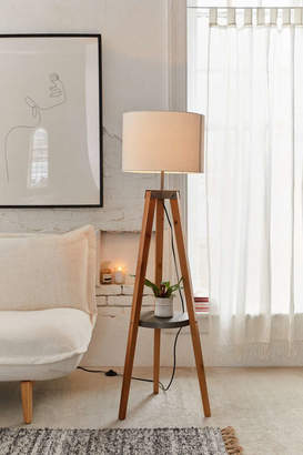 Urban Outfitters Miles Mid-Century Side Table Floor Lamp