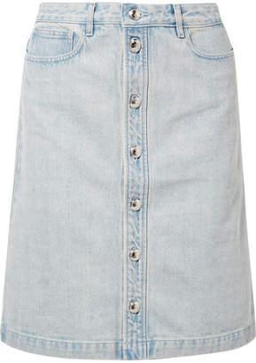 A.P.C. Therese Denim Skirt - Light denim