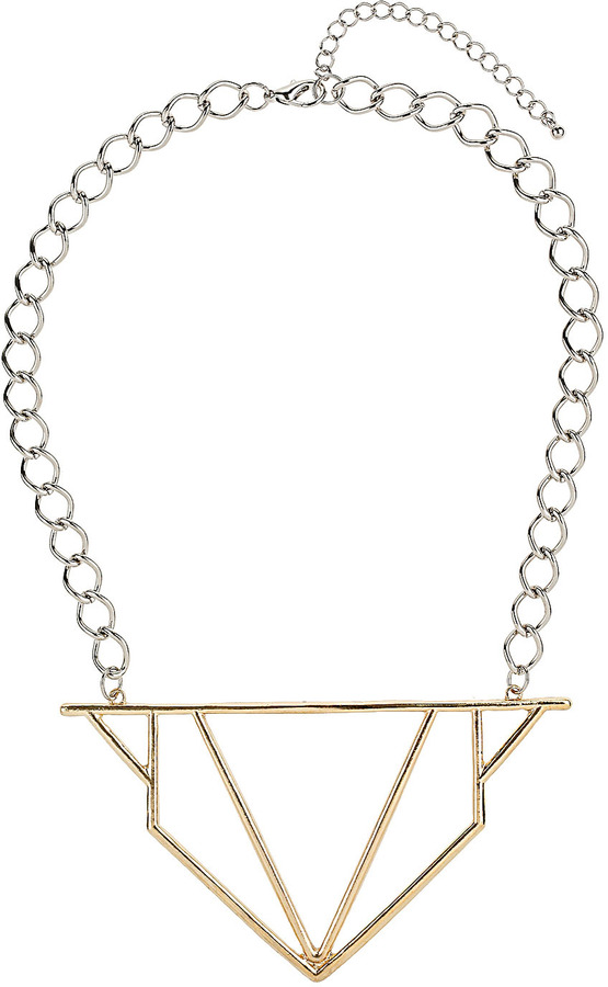 Topshop Cut-out Triangle Collar