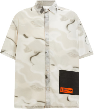 Heron Preston SS Camo-Print Cotton Shirt
