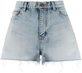 Saint Laurent unfinished hem denim shorts