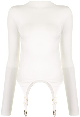 Dion Lee Garter Tab Long-Sleeved Top