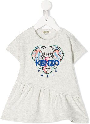 Kenzo embroidered elephant logo T-shirt
