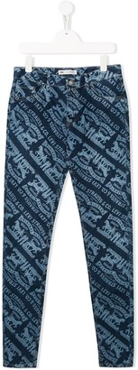 Levi's TEEN graphic logo print jeans