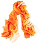 Black Clementine to Peach Cashmere and Silk Wrap