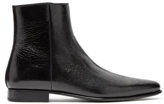 Givenchy Dallas Crackled Leather Ankle Boots - Mens - Black