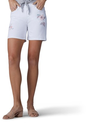 Lee Women's Modern Series Midrise Fit Cora Embroidered Short