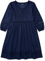 Ralph Lauren 7-16 Eyelet Cotton Voile Dress