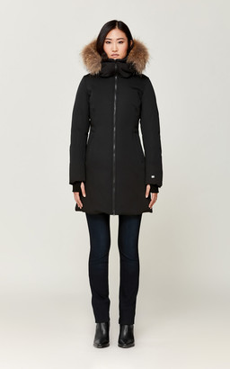 Soia & Kyo ELVIRA slim fit classic down coat with removable fur