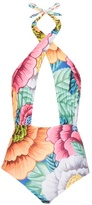Mara Hoffman Floral-print cross-front swimsuit