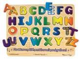 Melissa & Doug ; Alphabet Sound Puzzle - Wooden Peg Puzzle With Sound Effects (26 pcs)
