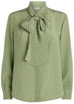 Max Mara Silk Polka-Dot Blouse