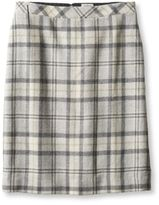 L.L. Bean Women's Eastport Wool Skirt, Plaid
