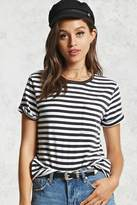 Forever 21 Striped Pocket Tee
