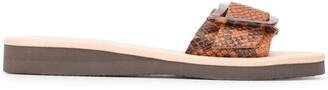 Ancient Greek Sandals Buckle Strap Sandal