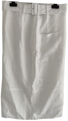 Jaeger White Linen Skirt for Women