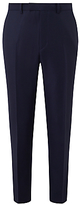 John Lewis Ermenegildo Zegna Super 160s Wool Birdseye Tailored Suit Trousers, Navy