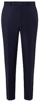 John Lewis Ermenegildo Zegna Super 160s Wool Birdseye Tailored Suit Trousers, Navy