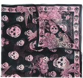 Alexander McQueen skull and hummingbird scarf - women - Silk - One Size