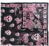Alexander McQueen skull and hummingbird scarf