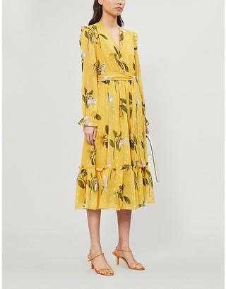 Ted Baker Elissea Savannah-print crepe midi dress