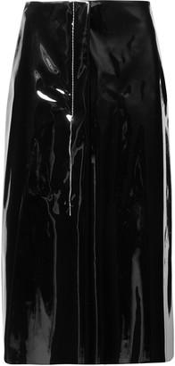 Marni Faux Patent-leather Midi Skirt