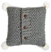 Nordstrom Knit Accent Pillow With Faux Fur Poms