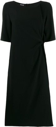 Giorgio Armani Draped Detail Dress