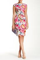 Alexia Admor Cap Sleeve Scuba Floral Midi Dress