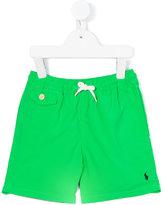 Ralph Lauren embroidered logo swim shorts - kids - Polyester - 3 yrs