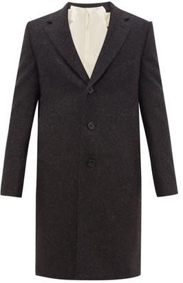 Aldo Maria Camillo - Single-breasted Felted Wool Coat - Mens - Grey