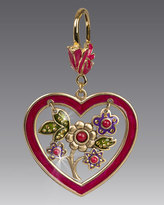 Jay Strongwater Heart & Flowers Key Ring