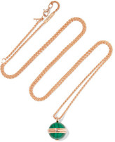 Piaget Possession 18-karat Rose Gold, Malachite And Diamond Necklace