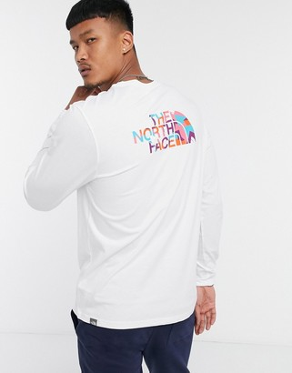 The North Face Easy long sleeve t-shirt in white