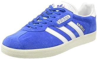 adidas Men's Gazelle Super Trainers, Blue/Vintage White-St/Gold Met, 42 EU