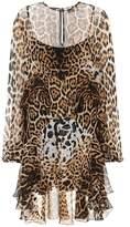 Saint Laurent Leopard-print silk minidress