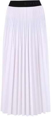 Givenchy Logo Trim Pleated Skirt
