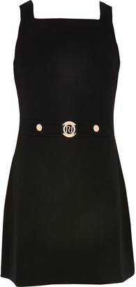 River Island Girls Black pinafore dress