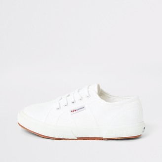 River Island Kids Superga White lace-up plimsolls