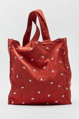 Urban Outfitters Embroidered Corduroy Tote Bag
