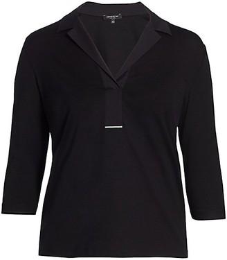 Lafayette 148 New York, Plus Size Magda Half Placket Shirt