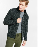 Express sherpa lined mock neck fleece sweater