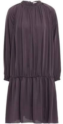 Brunello Cucinelli Bead-embellished Crepe De Chine Dress