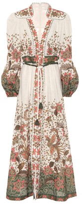 Zimmermann Empire printed linen maxi dress