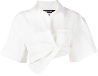 Jacquemus Asymmetric-Hem Short-Sleeve Top
