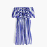 J.Crew Off-the-shoulder bold striped dress