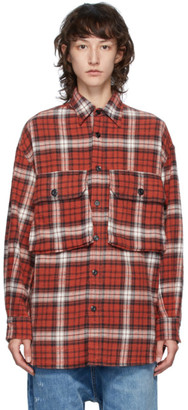R 13 Red Oversized Shirt