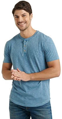 Lucky Brand Slub Henley Tee (Beech) Men's Clothing