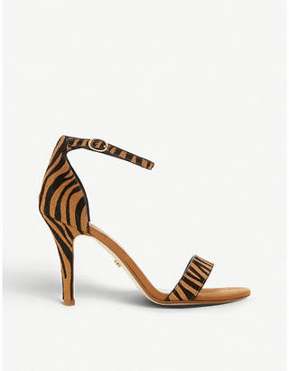 Dune Mydro leopard-print textured sandals